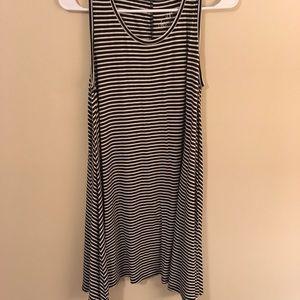 ***3 FOR $10 PROMO*** B&W stripe tank dress